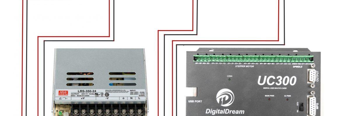 Wiring Power Supply 24V 350W